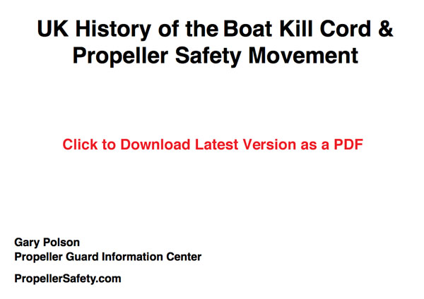 UK History of Boat Propeller Safety