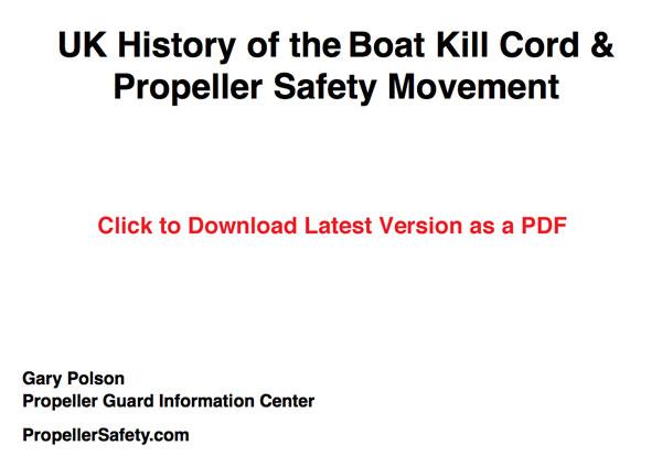 UK History of Boat Propeller Safety