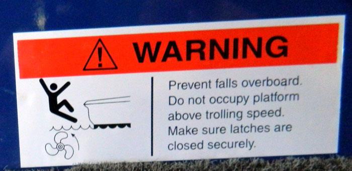 Fall warning from 2013 Tulsa Boat Show
