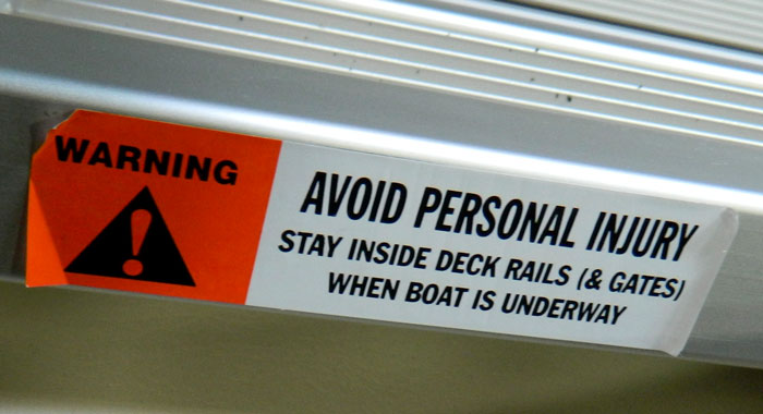 Nautical Deck Railing http://www.propellersafety.com/6761/legal-propeller/propeller-warning-labels-tulsa-2013/