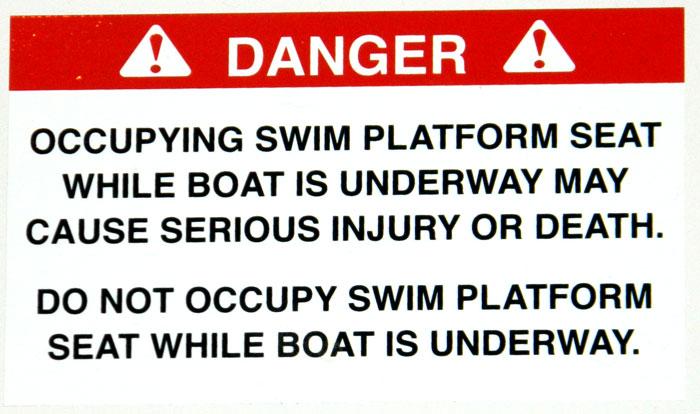 Rear facing seat warning at 2013 Tulsa Boat Show