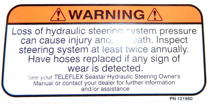 Power steering warning at 2013 Tulsa Boat Show