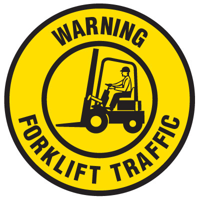 Forklift traffic warning