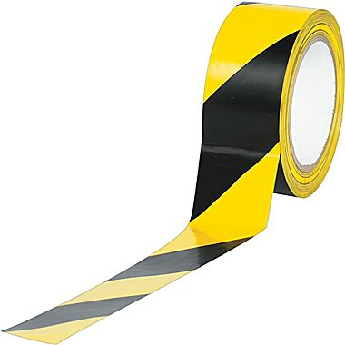 Yellow/Black stripe safety tape image from Staples.