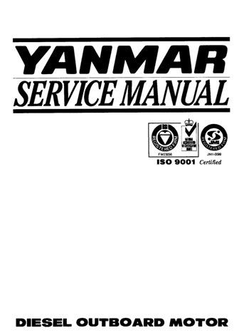 Yanmar D27 & D36 Diesel Outboard Service Manual cover