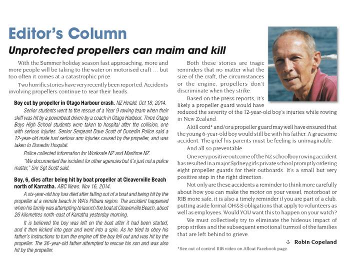 AFLOAT 2014 propeller article