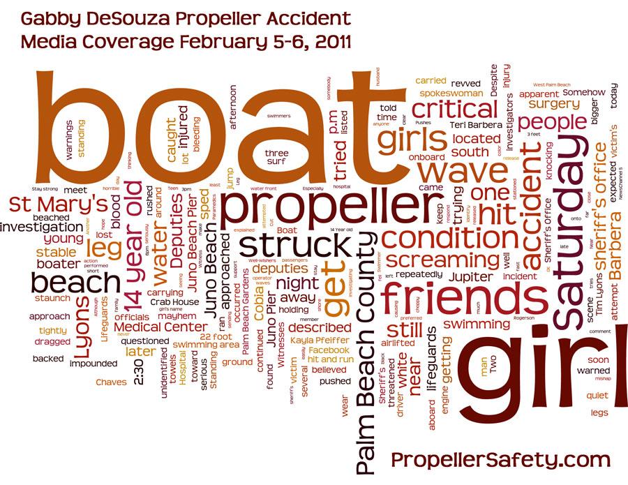 Gabby DeSouza Propeller Accident Breaking News Reports Wordle