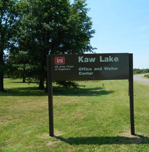 USACE Kaw Lake sign