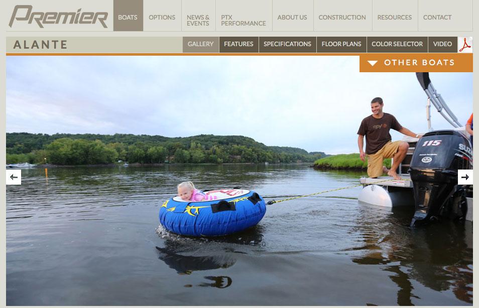 Premier boat ad