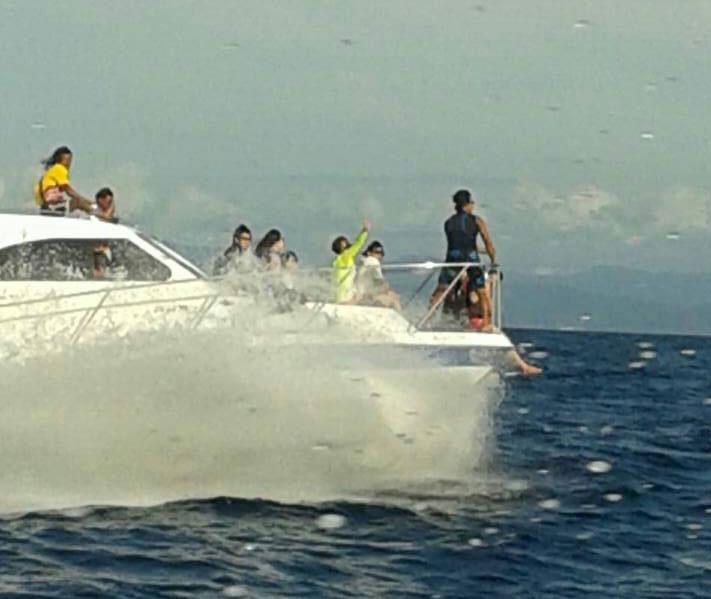 Yamaha Malaysia Facebook post of catamaran underway