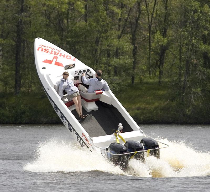 Tohatsu Twin Bridge Ski Team boat, Crivitz, Wisconsin