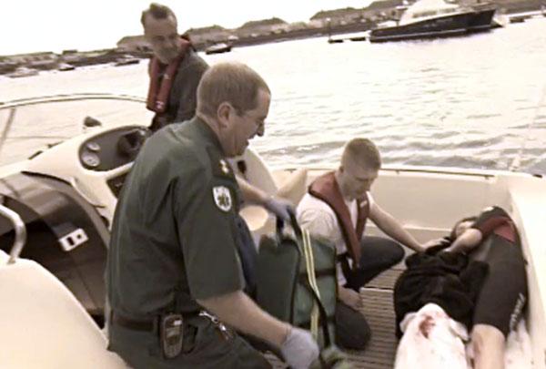 Andrew Watt, paramedic, arrives