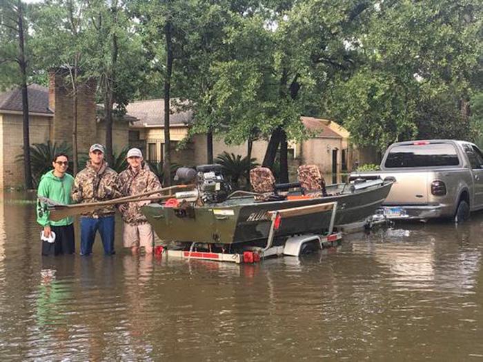 Backwater motor used in Hurricane Harvey rescue efforts.