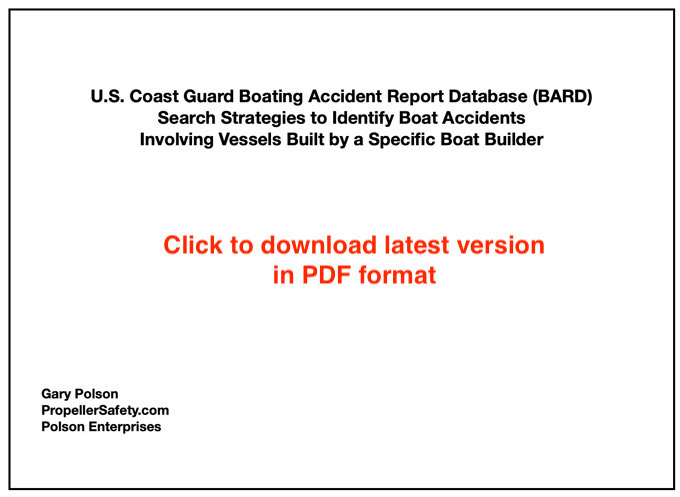 BARD search strategies for boat builders paper cover