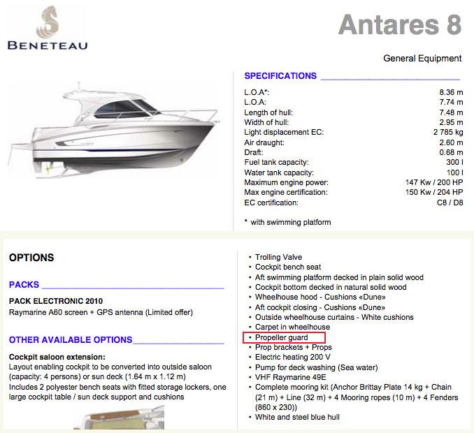Beneteau Antares 8 meter boat
