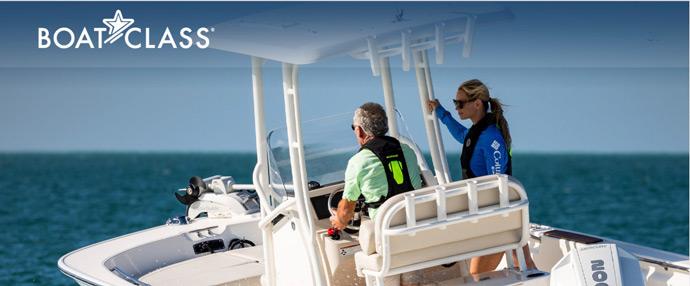 BoatClass Brunswick on water training