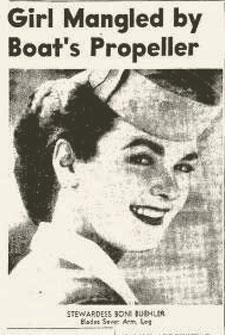 Boni Buehler as a stewardess