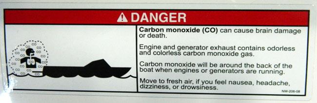 Warning - Carbon Monoxide