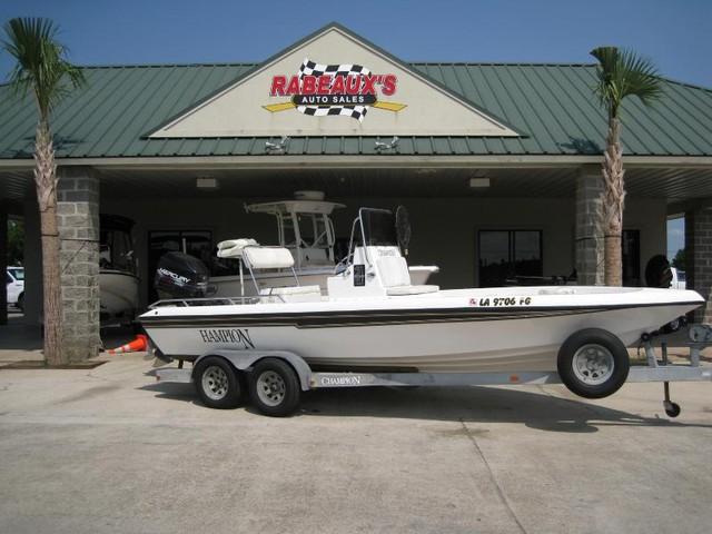 Champion 21 foot bay boat, 1998
