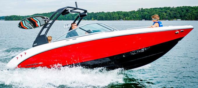 Chaparral boat 23 Surf Series 2021 model closeup