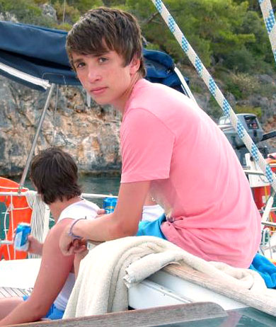 Charlie Hutton on Boat