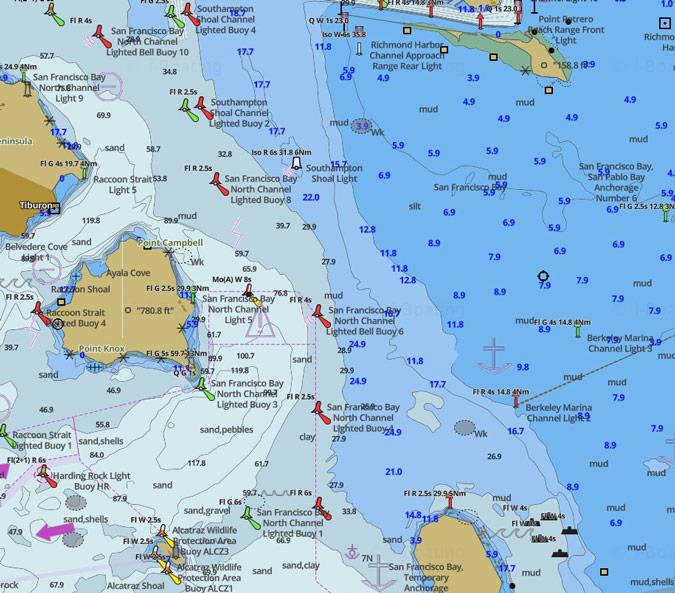 Chart - iBoating San Francisco Bay