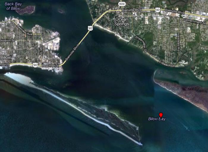 Deer Island Barge Position