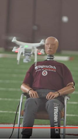 Virginia Tech drone impact testing