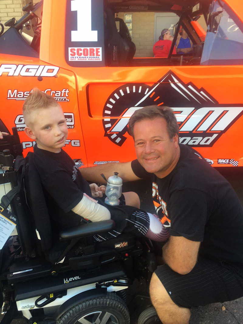 Dylan Darland with off-road truck race-deZert image