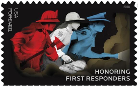 First Responders 2018 postal stamp