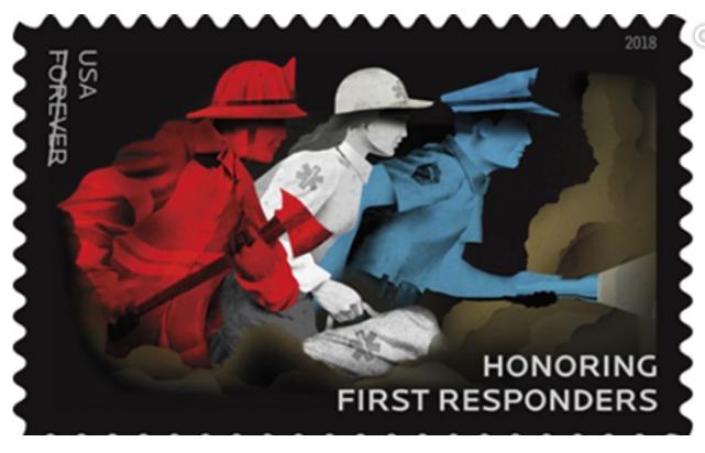First Responders U.S. Postage stamp 2018.
