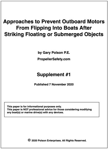 Approaches to Prevent Outboard Motors from Flipping into Boats: Supplement #1