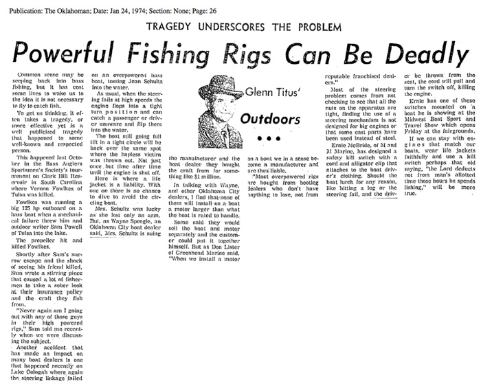 Powerful Fishing Rigs Can be Deadly.