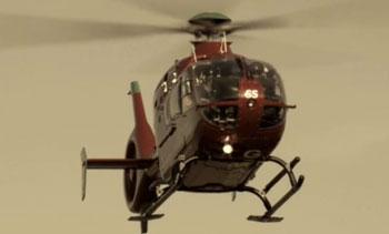 Helimed life flight helicopter arrives