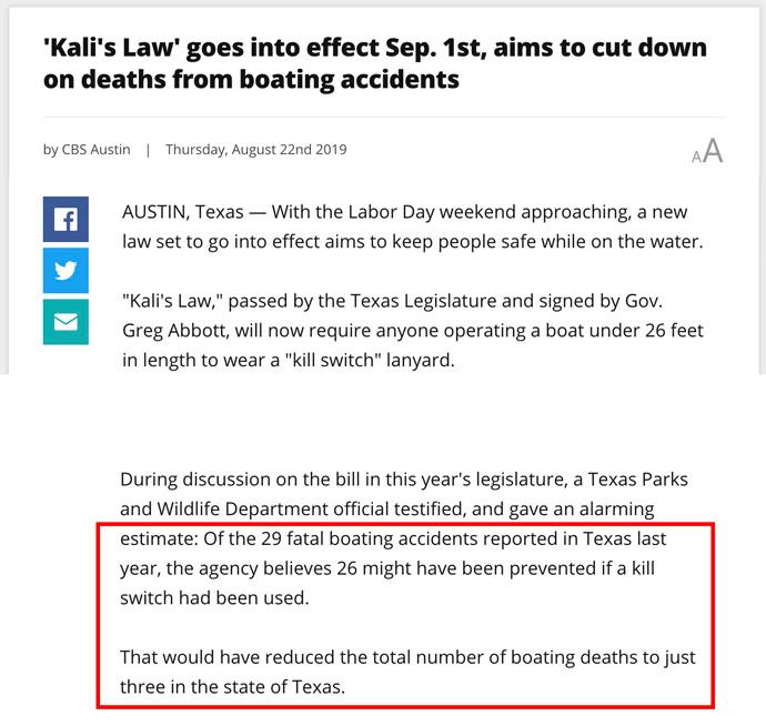 Kali's Law CBS Austin report