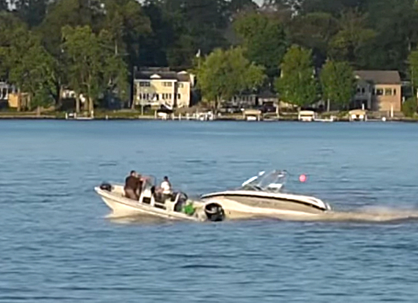 Lake Gage boat accident Oxford YouTube video still #1