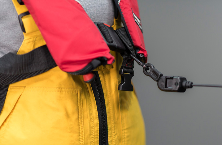 LifeCord attached to a lifejacket
