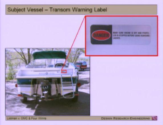 Listman Trial - Transom Propeller Warning