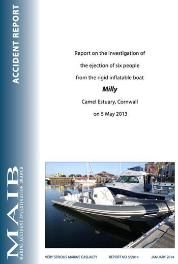 MAIB report on Milligan accident