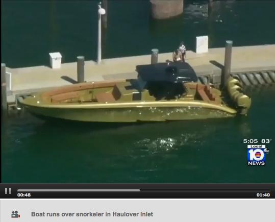 Midnight Express boat involved in accident