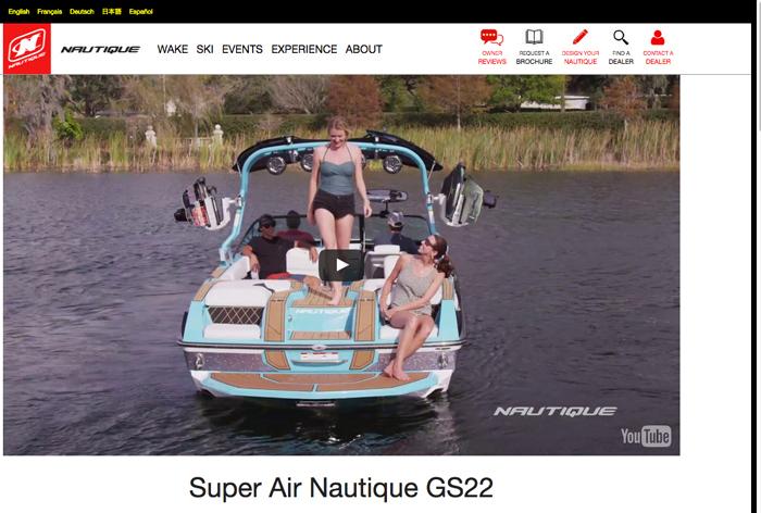 Super Air Nautique GS22 web page