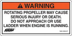NMMA Propeller Warning Decal