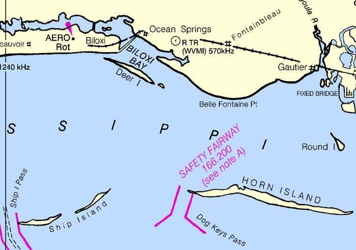 Deer Island NOAA map
