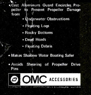 OMC Gale Propeller Guard box label