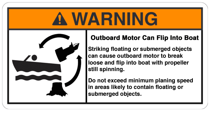 Outboard Can Flip Into Boat warning 2