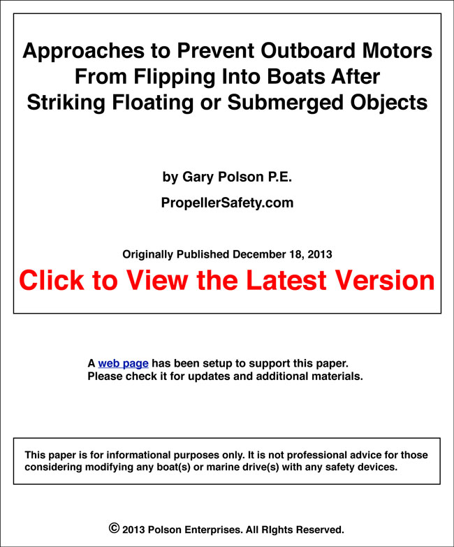Preventing Outboard Motors from Flipping Into Boats report cover