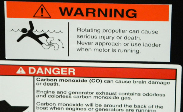 Warnings - Propeller and Carbon Monoxide