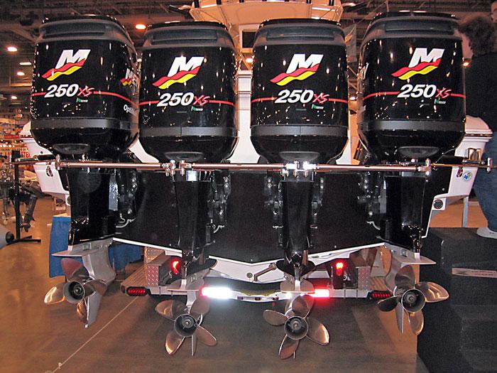 Quad Mercury 250 outboards