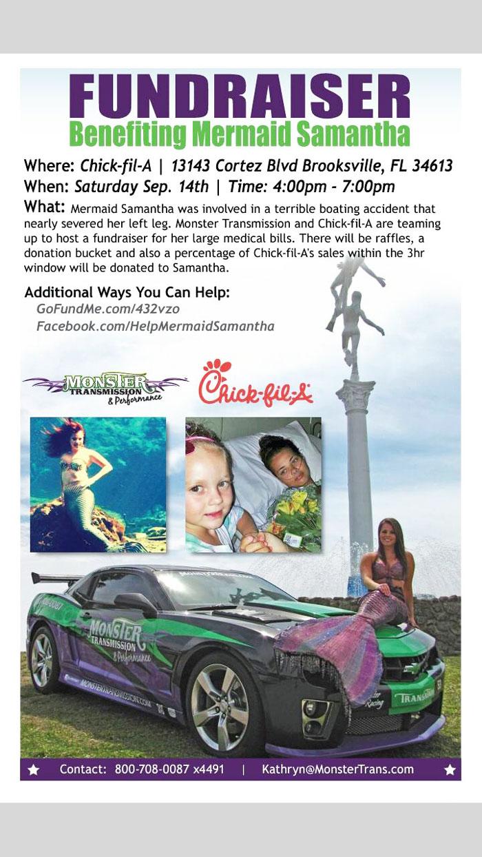 Samantha Maywell fundraiser, Chick-fil-A
