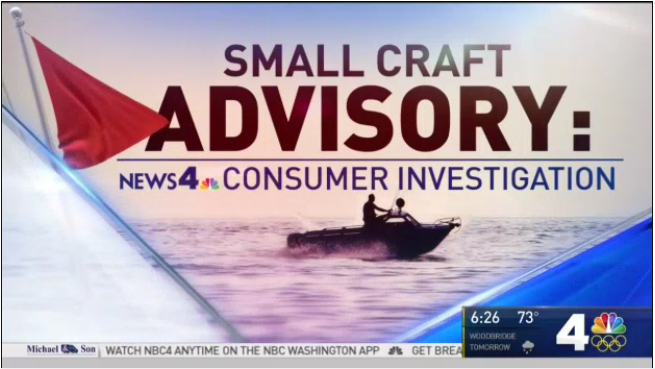 Small Craft Advisory graphic by NBC4